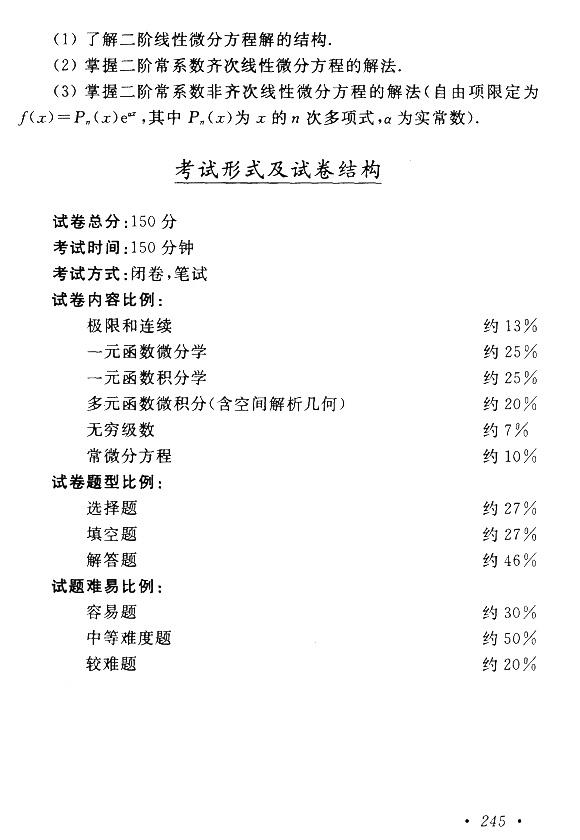 2015年成人高考专升本(高数一)考试大纲