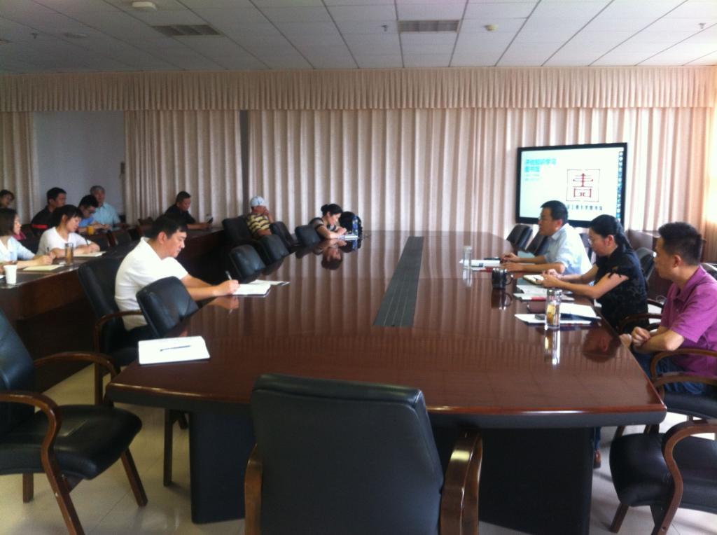 武汉工程大学图书馆举办本科教学工作审核评估知识学习会