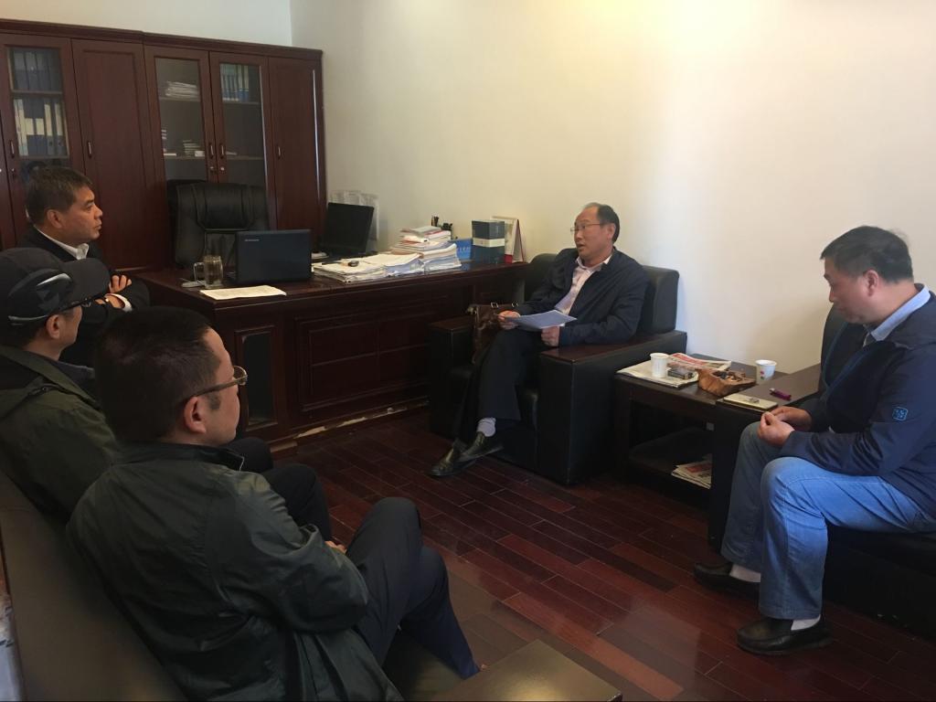 湖北广播电视大学领导,来鄂州职业大学协商联合办学事宜