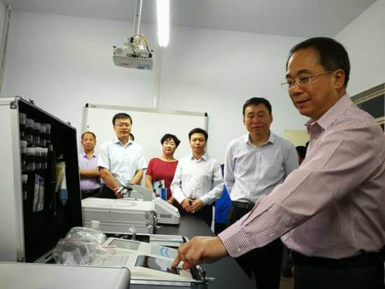 国家开放大学校长杨志坚调研河北省青龙县教育扶贫工作