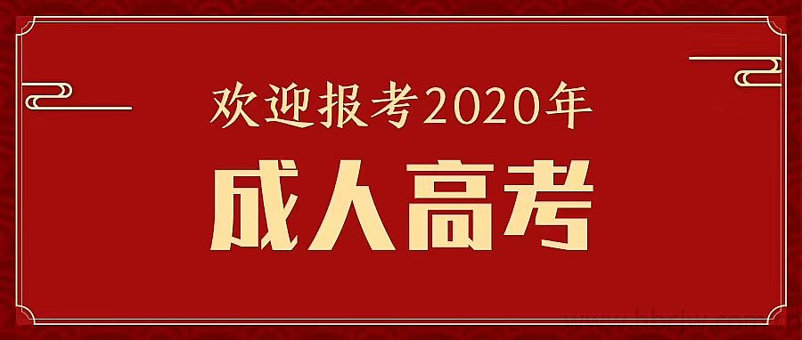 2020成人高考报名时间